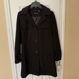 Calvin Klein Lined Trench Coat, NEW